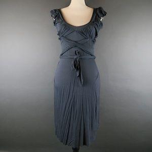 Armani Exchange Grey Midi Dress Size M